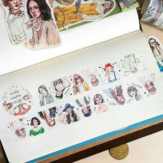 Bonnie Illustration - Lovely Everyday Outfit [washi tape by metre]