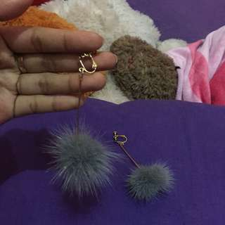 anting earing cute pompom