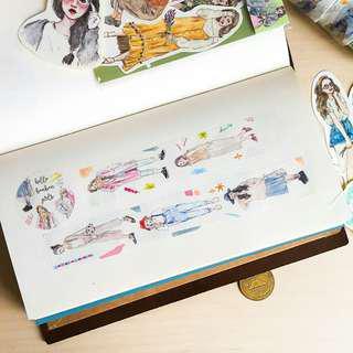 Bonnie Illustration - Hello BonBon Girls [washi tape by metre]