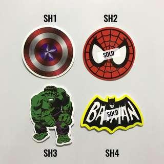 [NEW] Superhero Luggage Stickers /Laptop Stickers