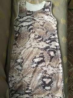 Promod Snakeskin Sequined Dress