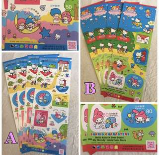 Sanrio characters - sticker stamps hello kitty 日本郵票
