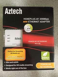 2x Aztech homeplug AV 200Mbps Mini Ethernet Adapter