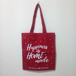 #Hariraya35 Find homes on Carousell tote bag, towel and file folder
