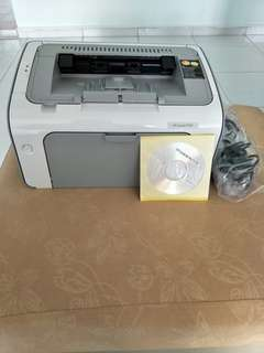 HP Laserjet printer (P1102) on sale.