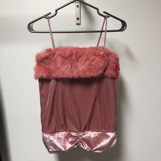 Baby Pink Furry Tank Top