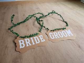 Bride Groom Chair Signage