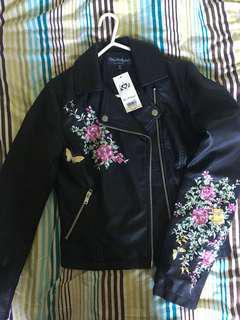 Never before worn Selfridges leather jacket!