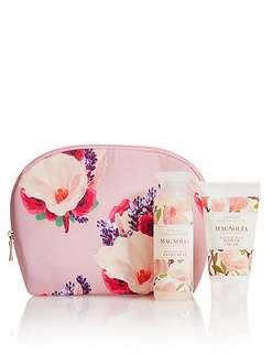M&S Magnolia Cosmetic Purse Shower Set