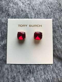 Tory Burch Crystal earrings Red 紅色水晶耳環配金