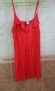 H&M Red Mini-dress US 12