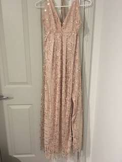 Rose gold formal dress