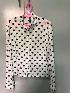 Authentic H&M Hearts Long sleeves