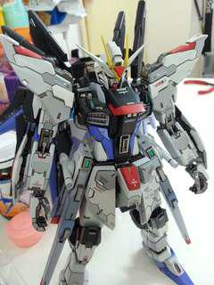 高達模型 MSB ms build mg strike freedom gundam 特自 特擊自由 高達  完成品