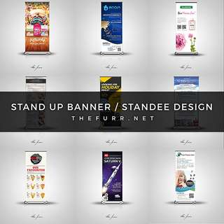STAND UP BANNER DESIGN / STANDEE DESIGN (Freelance Graphic Designer)