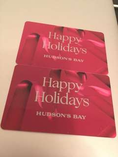 The Bay Gift Cards ($100)