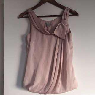H&M Pink Chiffon Top