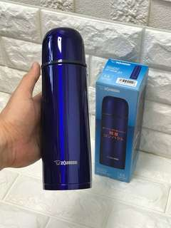 Fast Sale: Signature Zojirushi 2017 Dark Blue Stainless Steel Flask 500ml (Hot & cold) - 272.5 Grams, 6.5cm By 6.5cm By 22.5cm