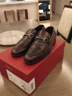 Authentic Ferragamo Brown Formal Shoes