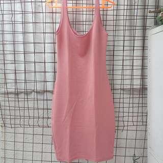 Backslit Midi Bodycon Dress