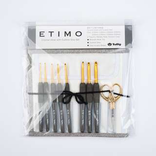 Japan Tulip ETIMO Crochet Hooks Set Premium Gold