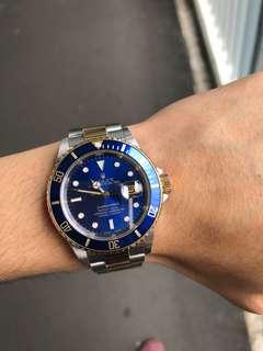 Rolex勞力士18K金鋼潛水16613