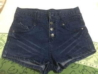Hotpants Jeans Kancing