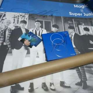 Signed Super Junior Large Poster with free photocards