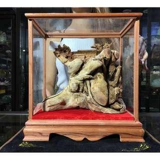 非洲檀香根瘤雕件 立體浮雕 招財擺件