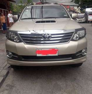 TOYOTA FORTUNER G   2015 Toyota Fortuner G Manual tranny 💪 1st owned 💯✊ 24k millage👌🏻 Original paint 98%tires 👍🏻 Leather seats Rubber mattings Good as bnew FULLYPAID  Pm/Call for interested taker 0905-2199179