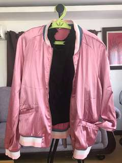 Mango pink bomber jacket