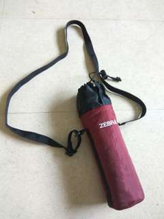 Zebra hot water flask insulated jacket with adjustable sling
