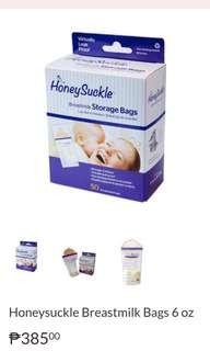 HoneySuckle breastmilk Storage Bags 6oz