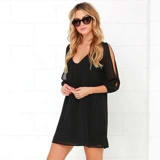[PO] Sleeve Cutout Dress