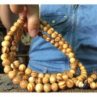 印尼國寶琥珀血龍木 手珠佛珠 108念珠 清淡香