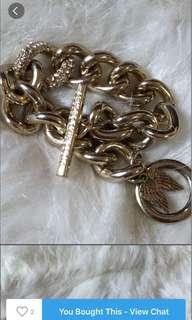 Victoria Secret 10k gold plated bracelet