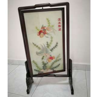 Chinese Art - Fish in Frame - deco