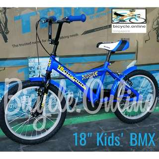 """18"""" BMX, Brand New Bicycle for Kids ✩ suitable for height above 126cm"""