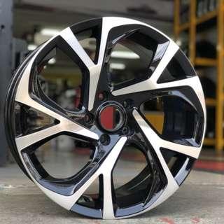 蕭條月6月限定促銷 18吋鋁圈 搭配馬牌 225/40/18 高性能跑胎 MC6 圈胎一組級品優惠價