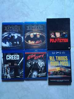 Dvds - $5 each or $25 for all 6