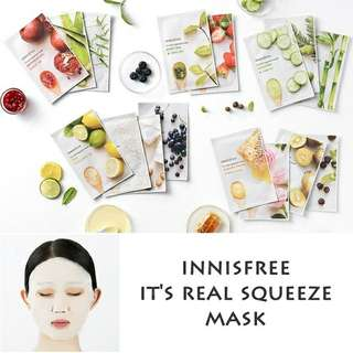 PO Innisfree real squeeze mask sheet IMPORT