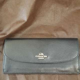 Coach leather Wallet黑色長銀包