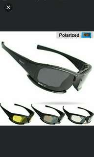 🆕🆒Polarized Daisy X7 Army Sunglasses, Military Goggles 4 Lens Kit, War Game Tactical Men's Glasses