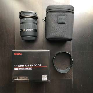 Sigma DC 17-50mm f 2.8 for Canon with Hoya Pro 1 CPL