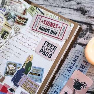 Retro Ticket Bookmarks