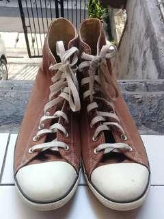 Converse Chuck Taylor Brown Hi Top Shoes 11 AUTHENTIC