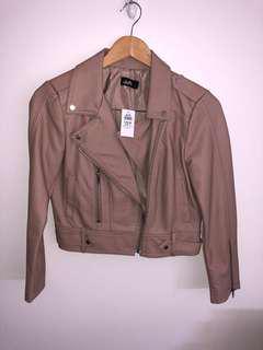 Dusty rose leather jacket