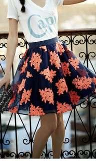 NWOT Anthropologie Maeve Pom Blossom Skirt - Size 4