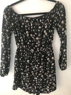 MISSGUIDED Bardot Playsuit (Size 8)