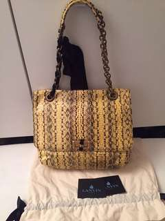 LANVIN bag medium happy in snake